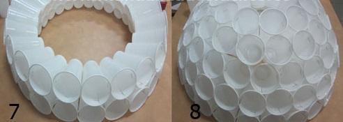 Muñeco De Nieve Hecho Con Vasos De Plástico Alavesa De Pinturas